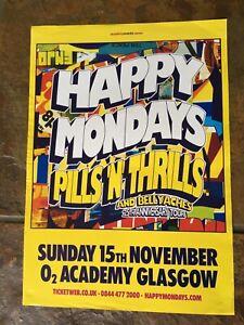 The Happy Mondays - 2015 Concert/gig  Poster - Glasgow