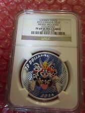 2015 canada looney tunes merrie melodies .9999 silver coin PF69 bugs bunny anacs