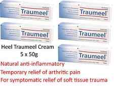 5 x 50g HEEL Traumeel Anti Inflammatory Cream temporary relief bruising , sore