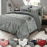 3 Piece Crushed Velvet Duvet/Quilt Cover & Pillowcase Bedding Set Double King
