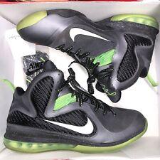 Nike Lebron 9 IX Dunkman Dark Grey Black Volt Green 469764-006 Sz 12 X XII VIII