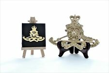 Royal Artillery (RA) - LARGE Solid Brass display badge (15cm x 11cm)
