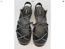 JAMBU JBU Vegan Water Diva Black Strappy Sandals Shoes Women's US 7 Medium