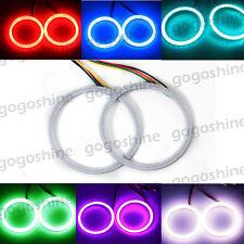 2pcs 100MM RGB Multi-Color COB Car Angel Eyes Light 102 LED Halo Rings Lamps Kit