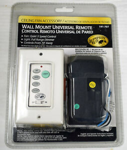 Hampton Bay Universal Ceiling Fan and Light Wall Remote, Mint New in Package