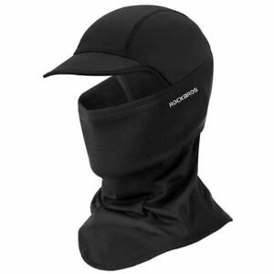 ROCKBROS Cycling Mask Winter Windproof Keep Warm Bike Cap with Brim One Size