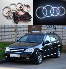 4x Excellent SMD Angel Eyes kit Halo Ring For Chevrolet Lacetti Optra Nubira 02