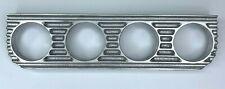 Finned Under Dash Gauge Panel (UnPolished Cast Aluminum Quadruple 4) Made In Usa