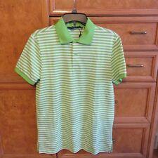 Men's Polo Ralph Lauren golf shirt performance green stripe cotton S Nwt 89.50