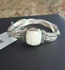 NEW STEPHEN DWECK  STERLING MULTISTRAND LIQUID CHAIN BRACELET WITH WHITE MOP