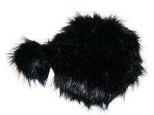 Jennifer & Company Faux Fur Women Shoulder Round Bag with Keychain, Black
