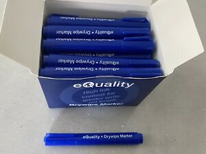 Box Of 36 Pens eQuality Whiteboard Drywipe Marker Pens Bullet Tip Easy Wipe New