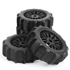 4Pcs Desert Snowfield Ruber Tire Rims For HSP 1:8 RC Off-Road Buggy Car 17MM Hex