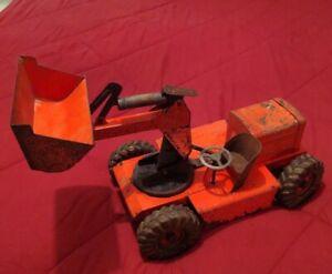 Vintage Nylint Rare Pettibone Speed Swing Metal Toy Dozer - Ny-Lint Orange