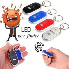 4pcs Lost Keys Finder LED Seeker Alarm Locator Tracker Whistle Sound Contro