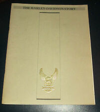 VINTAGE 1982 THE HARLEY DAVIDSON STORY BOOK Softcover Excellent Condition