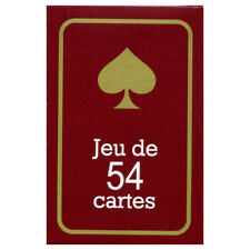 JEU DE 54 CARTES - DOS ROUGE - EXTRA FINES - POUR POKER - RAMI - BRIDGE