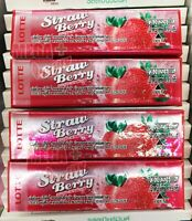 4x Lotte Strawberry Chewing Gum Snack Candy Snacks Candies Yummy Food Sweets 15g