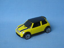 Matchbox Mini Cooper S Yellow Body Black Roof Toy Model Car 60mm Long Unboxed