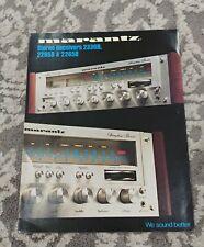 Marantz 2330B 2285B 2265B Vintage  Original Brochure mint condition