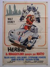 HERBIE IL MAGGIOLINO SEMPRE PIU' MATTO comico Stevenson manifesto orig. 1974