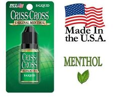 Criss Cross Vape Vapor USA 10ML Menthol 0 mg No Nicotine - $4.99