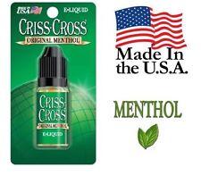 Criss Cross Vape Vapor USA 10ML Menthol 0 mg No Nicotine - $4.99