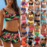 Women Swim Shorts Tankini Bottom Bikini Set Sport Board Boy Short Beach Swimwear