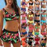 Womens Summer Bikini Set with Boy Shorts Swimwear Swimsuit Beach Bathing Tankini