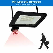 LED Flood Light PIR AC Motion Sensor Outdoor Waterproof Garden Wall Street Lamp