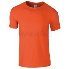 Gildan Boys Girls Softstyle Ringspun 100% Cotton Plain Blank Tee T-Shirt