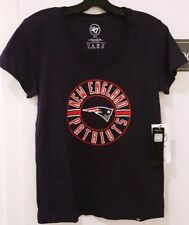 New England Patriots 47 Brand Women's Super Soft V-Neck T-Shirt NWT Small