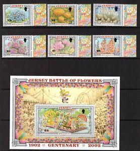 Jersey 2002 Flowers Festival set sheet MNH mint stamps