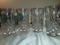 "Set of 4 Godinger Dublin Shannon Collection Crystal 5 ½"" Highball Tumbler(s)"