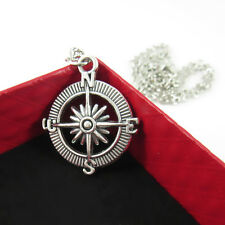 Fashion Pendant Vintage Retro compass Silver Necklace For Men Or Women Gifts