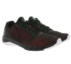Reebok Fast Flexweave chaussures chaussures de sport confortables noir / rouge