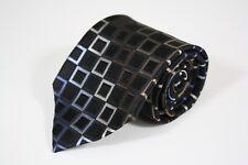 Michael Michael Kors Blue Brown Square Print Silk Classic Tie