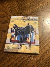 American Girl SAIGE SADDLE PAINTING Canvas Painting Replacement Piece EUC