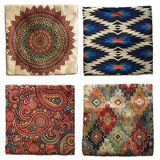 Colouful Printed Indian Cushion Cover Patterns Mandala Bright Buddha Zen Covers
