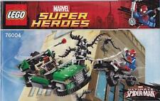 LEGO Spider-Cycle Chase Instruction Booklets ONLY from Set 76004 NEW