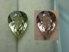 very rare gem Diaspore Color Change gemstone Bafa Lake, Turkey Pear Cut 0.96