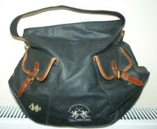 La Martina Polo Society Brown Canvas and Leather Large Tote Bag