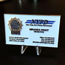 B56 New York MIRANDA RIGHTS Card 23RD 23 Precinct PCT Police Challenge COIN