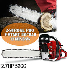 New 20'' Pro 52CC Engine Petrol Chainsaw Cutting Wood Saw Bar Handle+Repair Tool