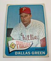 1965 Topps # 203 Dallas Green Baseball Card Philadelphia Phillies
