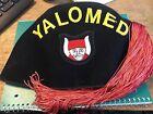 Yalomed black felt fez with red tassle DT&Co size 7 1/4