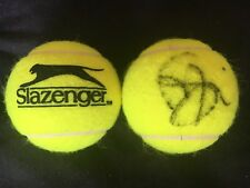 TENNIS: MARIA SAKKARI SIGNED SLAZENGER TENNIS BALL+COA *WIMBLEDON*