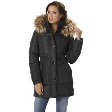 Women's Rocawear Plus Hooded Snorkel Jacket Black 1XL #NJHSX-G12