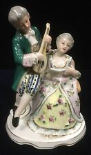 Vintage Porcelain Georgian Style Figurine of Gentleman and a Lady in a Duet