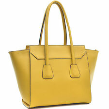 New Womens Handbags Faux Leather Tote Bag Satchel Shoulder Bag Purse Big Sale